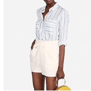 Ivory paper bag shorts
